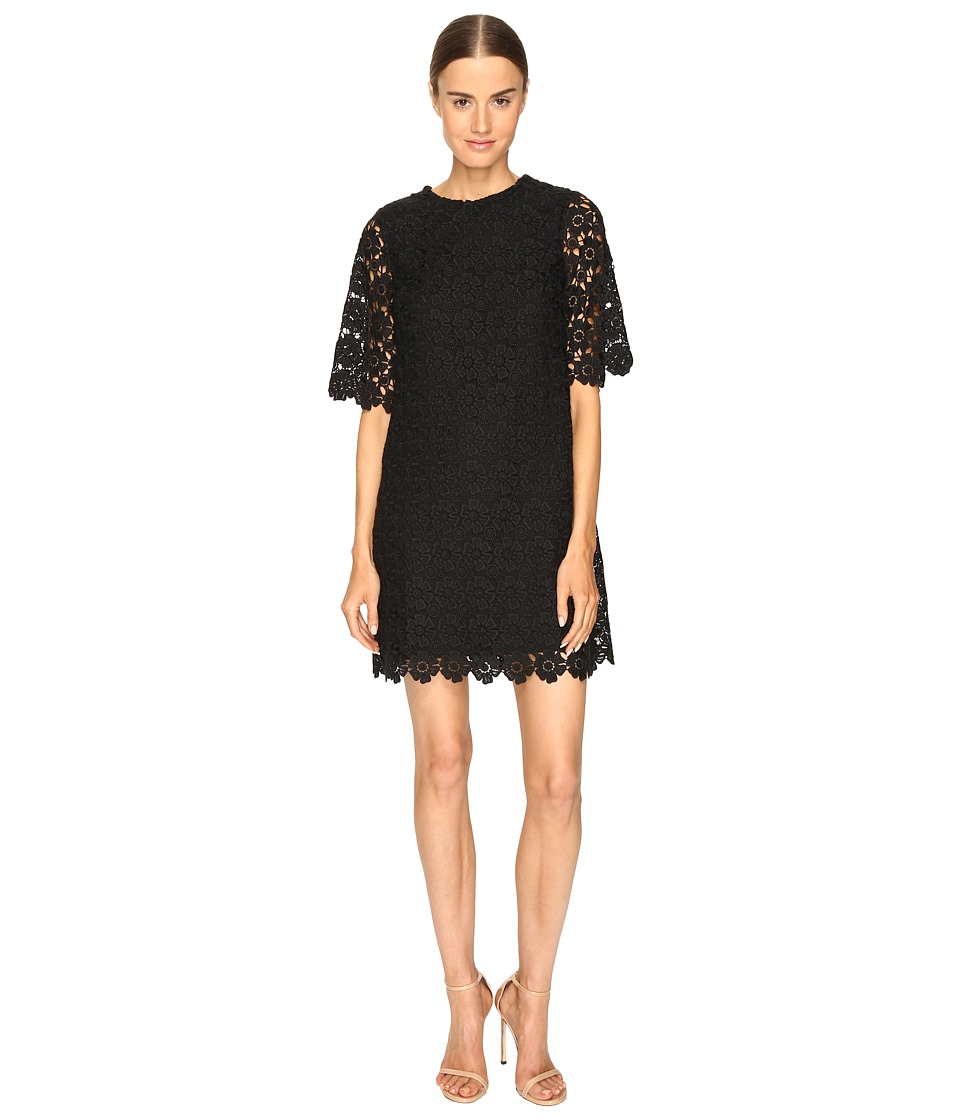 Kate Spade New York - Daisy Lace Shift Dress (Black) Women's Dress