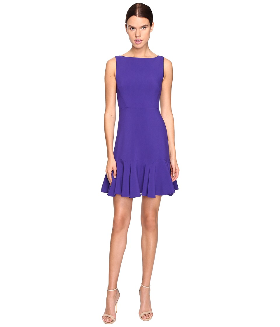 Kate Spade New York Crepe Flounce Dress (Nightlife Blue) Women