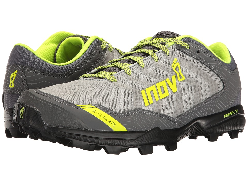 inov-8 - X-Claw 275 Chill (Silver/Black/Neon Yellow) Men's Shoes