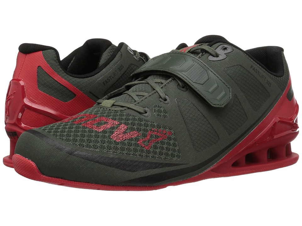 inov-8 - Fastlift 325 (Dark Green/Red) Men's Shoes