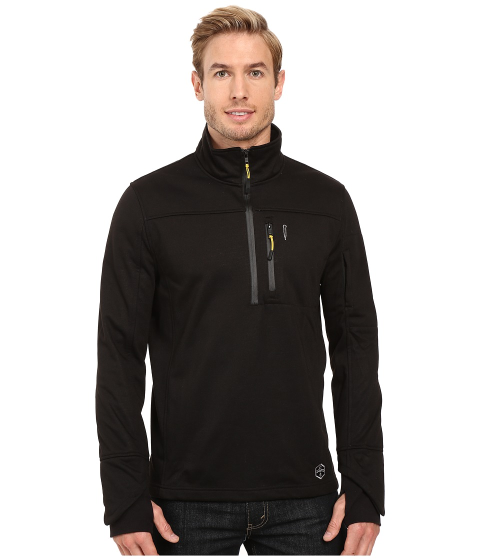 Khombu - Melange (Black) Men's Clothing