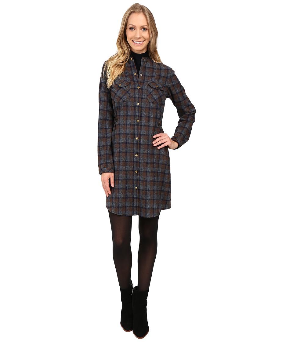 Pendleton - Riverdale Shirtdress (Brown Mix Plaid) Women's Dress