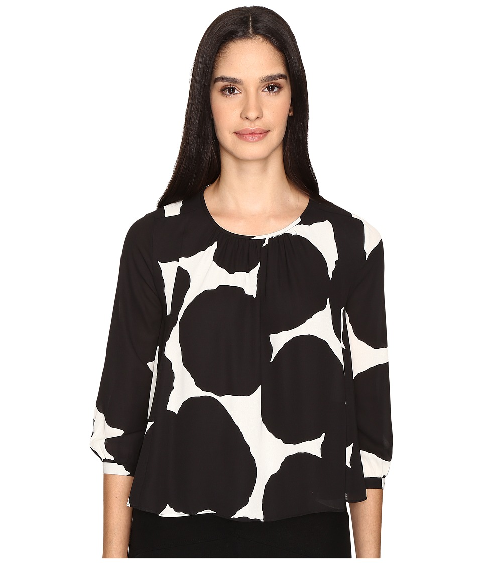 Kate Spade New York - Blot Dot Swing Top (French Cream/Black) Women's Clothing