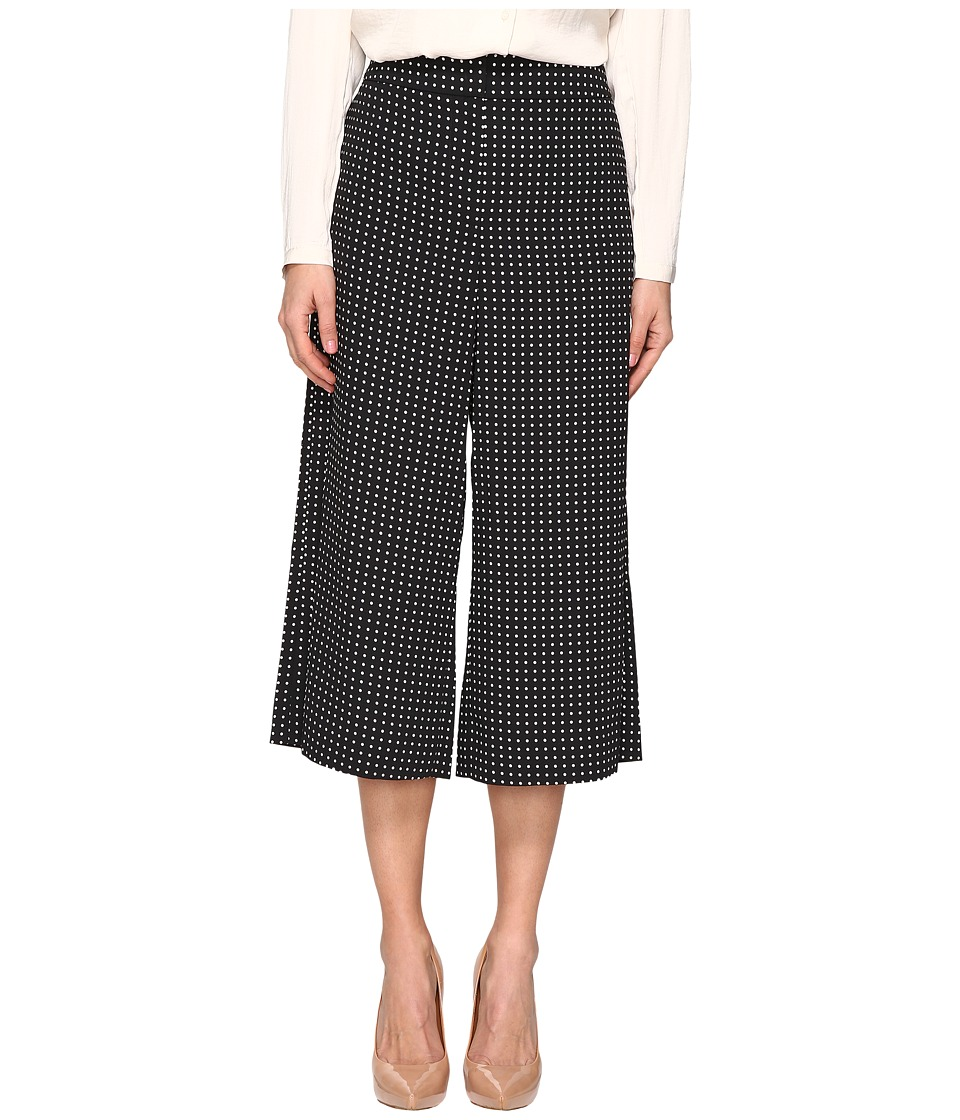Kate Spade New York - Pin Dot Crepe Culotte (Black/Cream) Women's Clothing