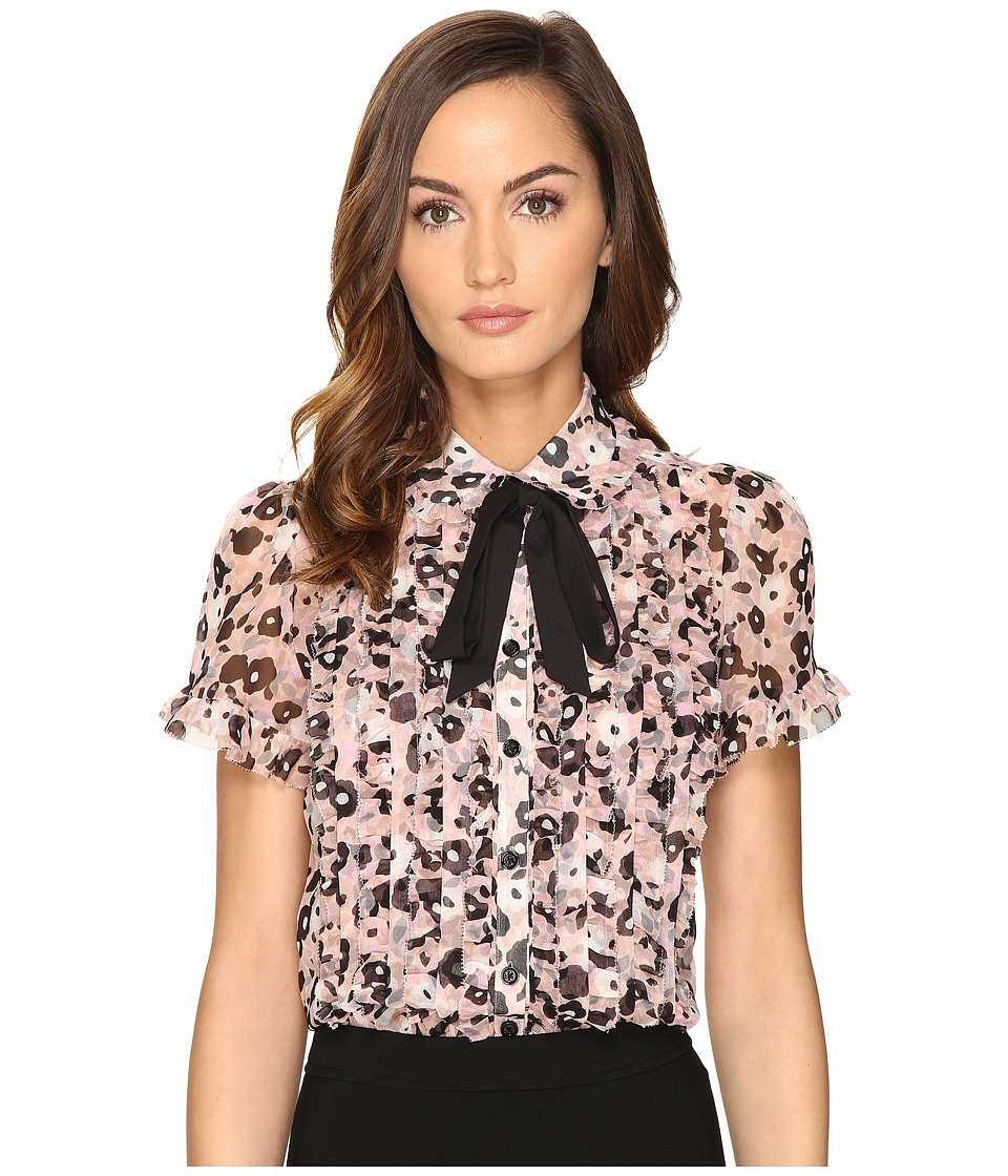 Kate Spade New York - Posy Grove Chiffon Shirt (Neutral) Women's Clothing
