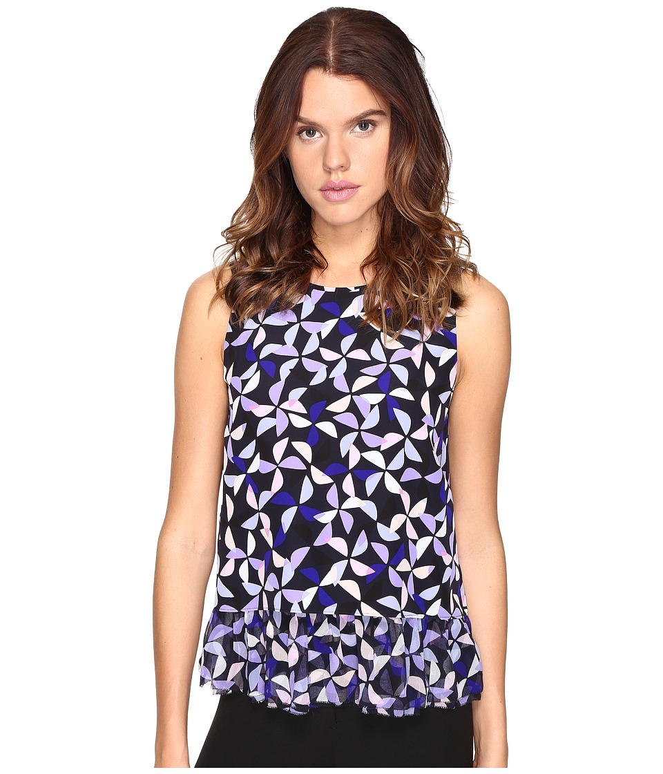 Kate Spade New York - Spinner Double Layer Tank Top (Nightlife Blue) Women's Sleeveless