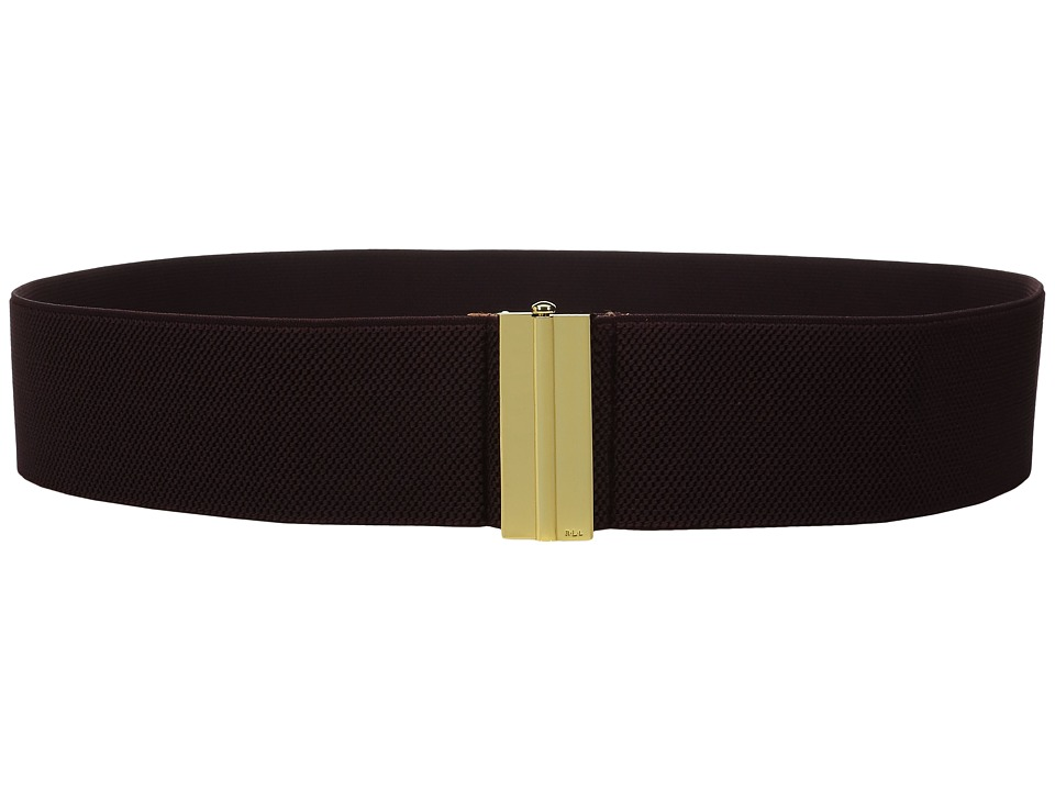 LAUREN Ralph Lauren - 2 1/2 Dress Beveled Sliding Interlock on Stretch Strap (Claret) Women's Belts