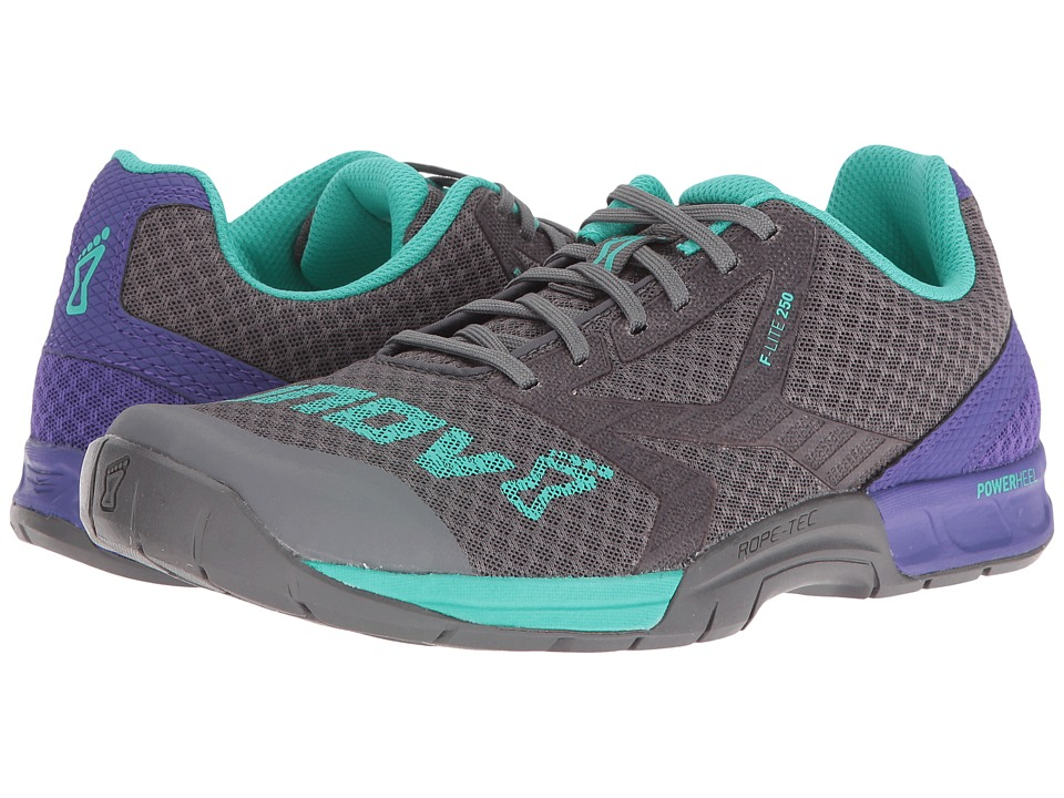 inov-8 F-Lite 250 (Dark Grey/Purple/Teal) Women's Shoes. On sale ...