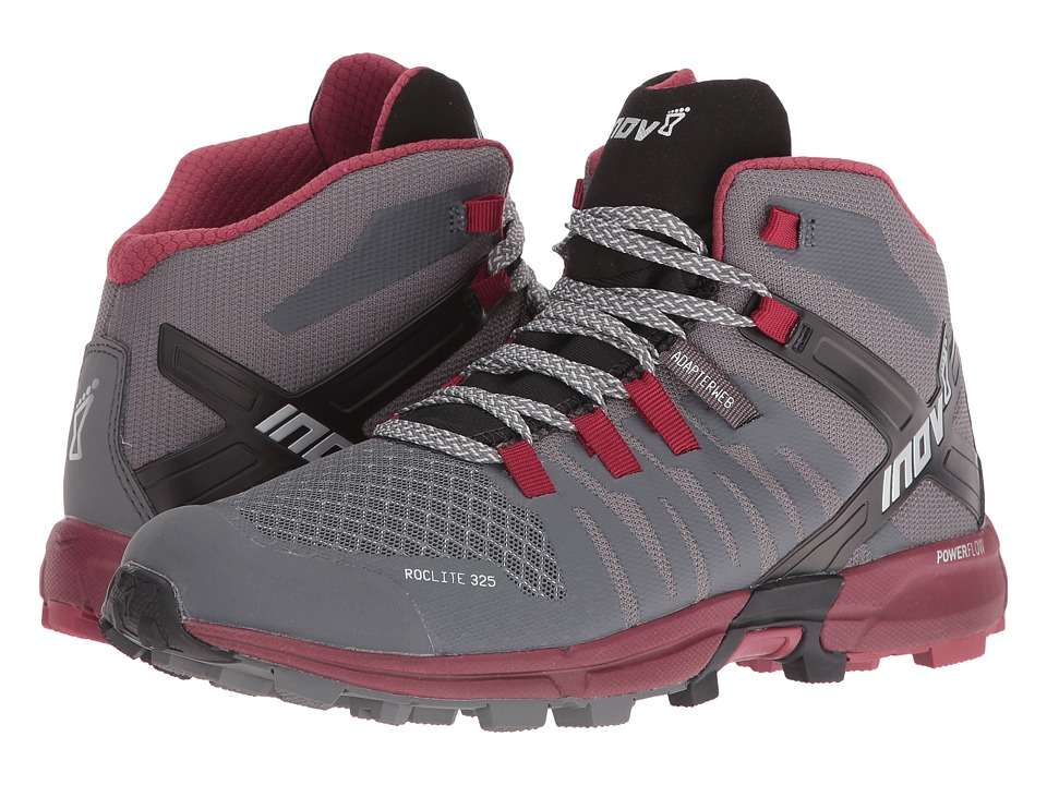 inov-8 - Roclite 325 (Dark Grey/Dark Red) Women's Shoes