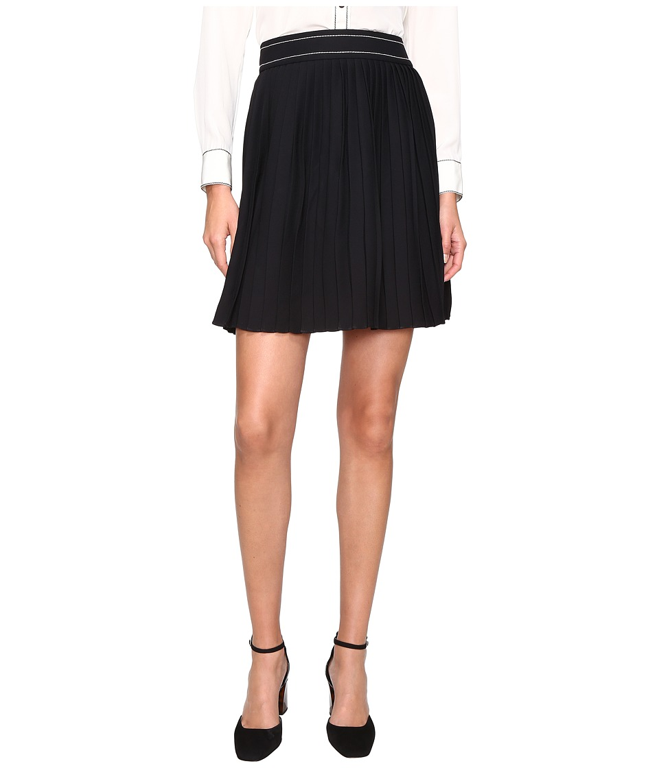 Kate Spade New York - Contrast Stitch Skirt (Black) Women's Skirt