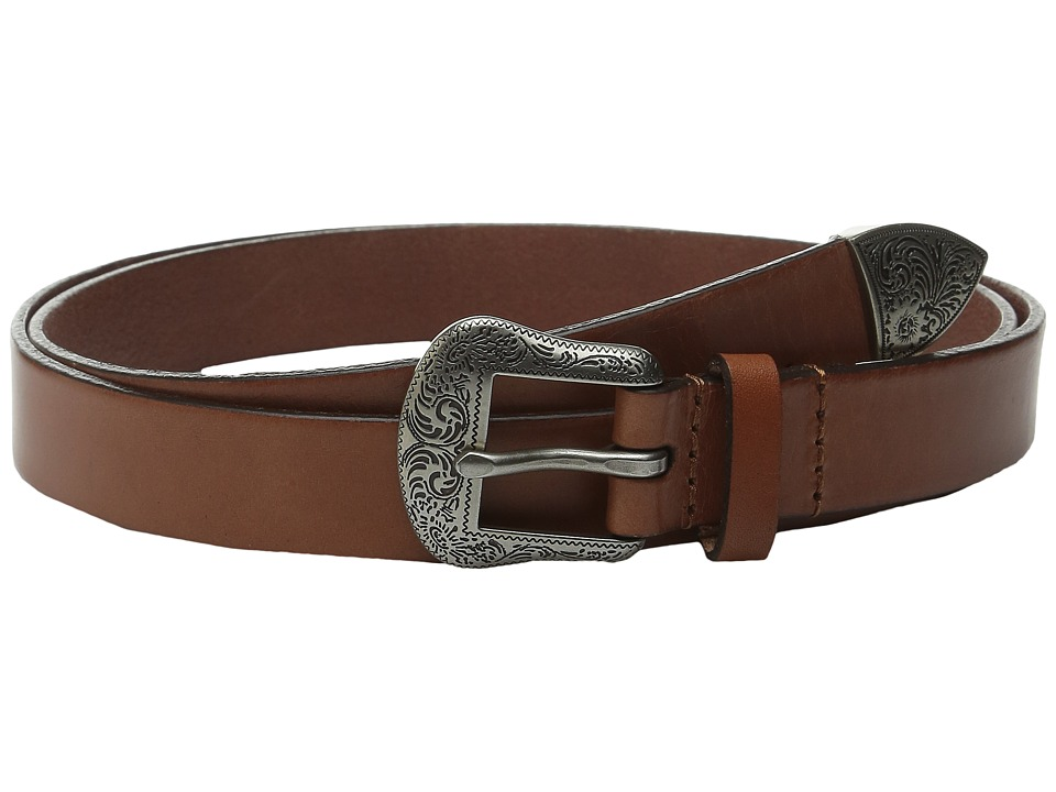 LAUREN Ralph Lauren - 1 Western Belt with Metal Tip on Smooth Veg Leather Strap (Cuoio) Women's Belts