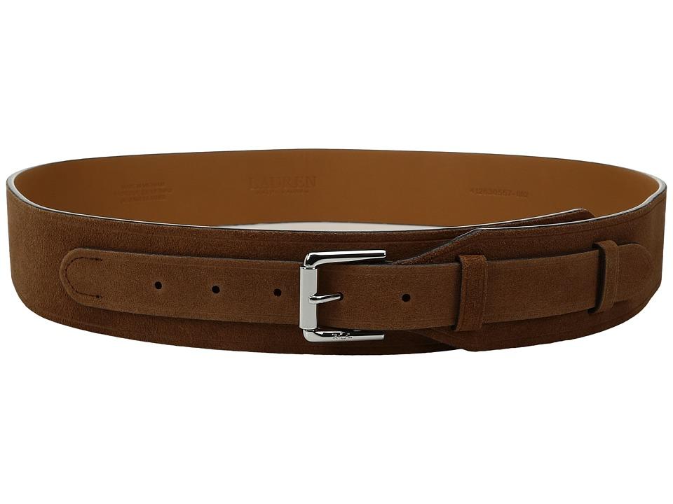 LAUREN Ralph Lauren - 2 Equestrian Harness Suede Belt (Tan) Women's Belts