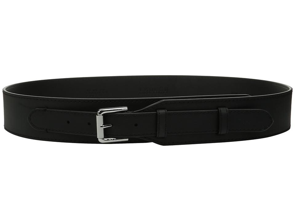 LAUREN Ralph Lauren - 2 Equestrian Harness Veg Leather Belt (Black) Women's Belts