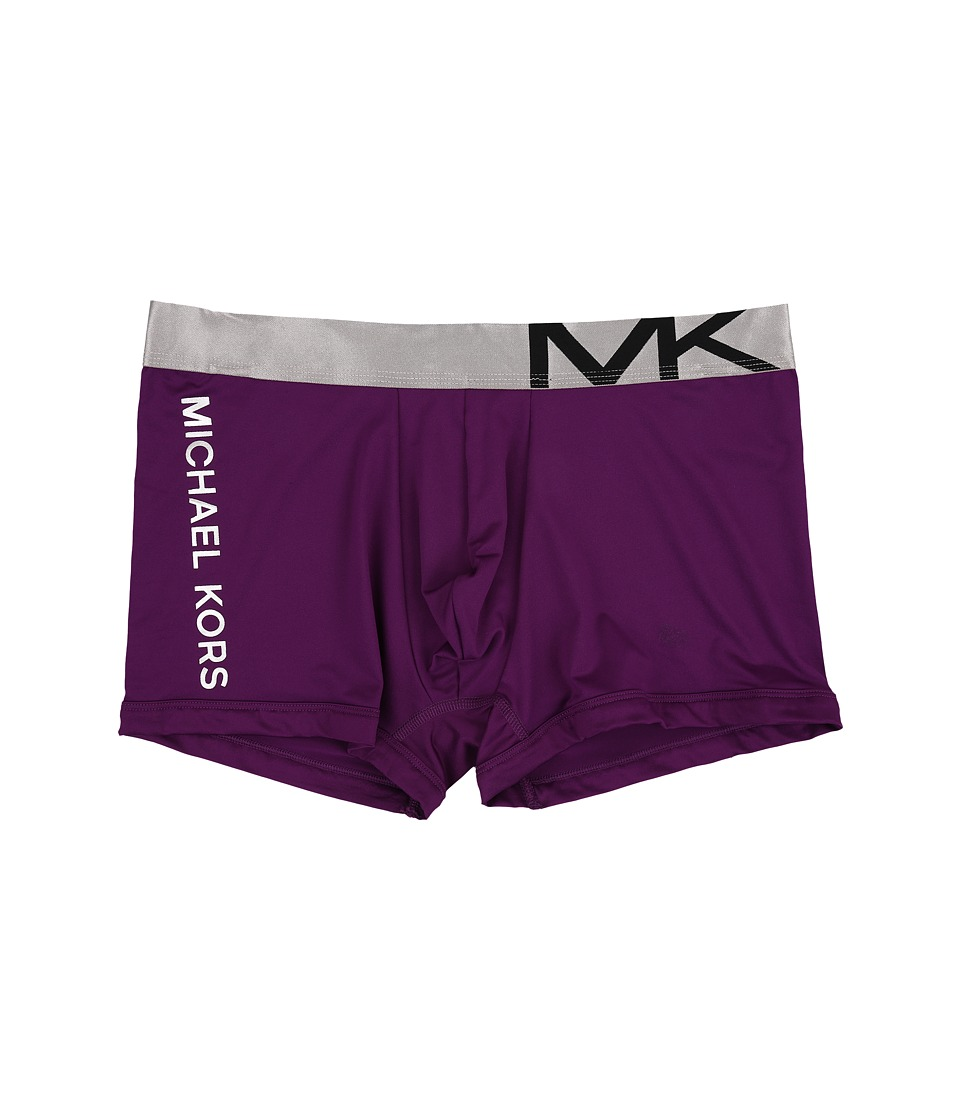 Michael Kors - Statement Icon Trunk (Purple Dragon) Men's Underwear