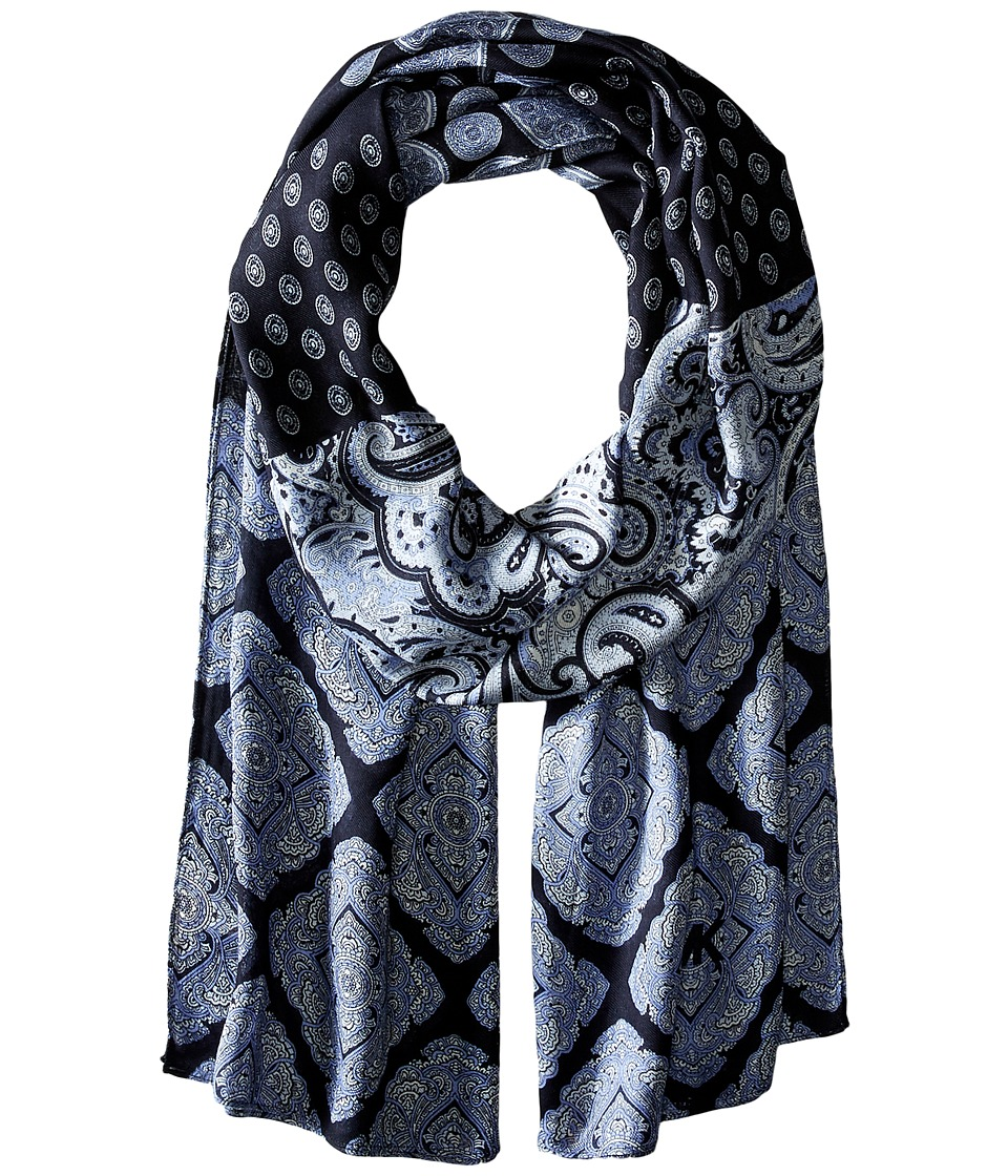 MICHAEL Michael Kors - Paisley Mix Oblong (Adriatic Blue Comb) Scarves