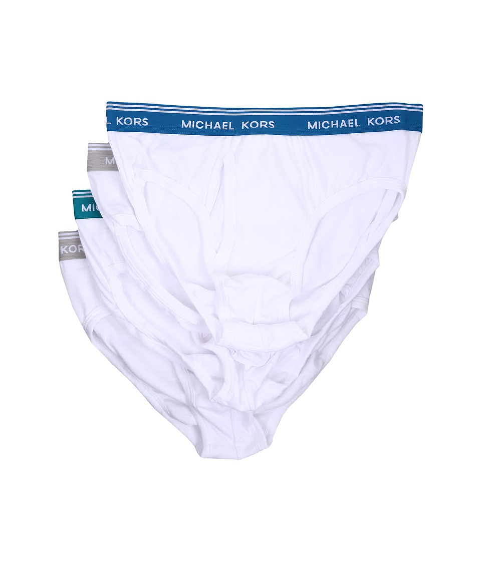 Michael Kors - Essentials Brief 4-Pack (White Multi) Men's Underwear