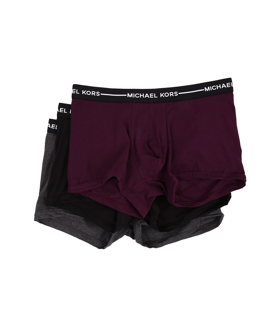 Michael Kors - Ultimate Cotton Stretch Trunk 3-Pack (Concord) Men's Underwear