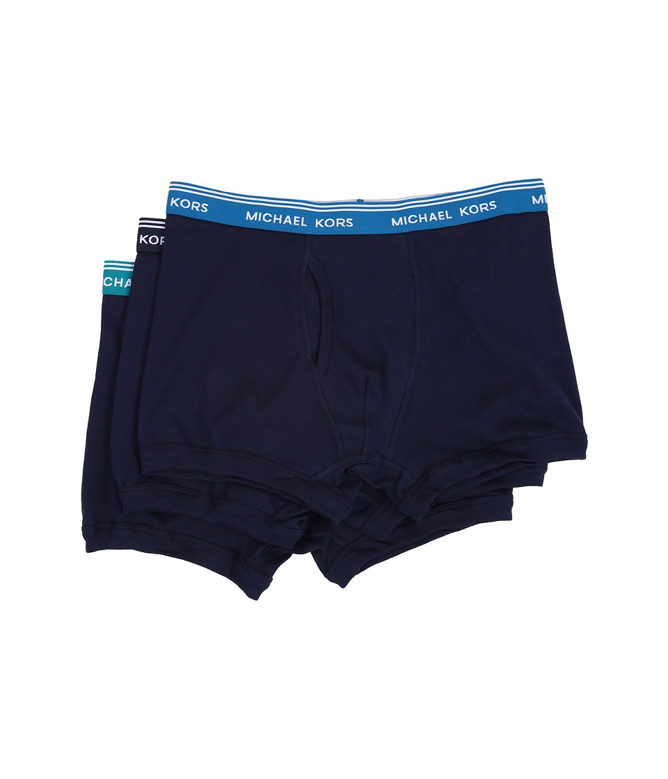 Michael Kors - Essentials Trunk 3-Pack (Slate Blue) Men's Underwear