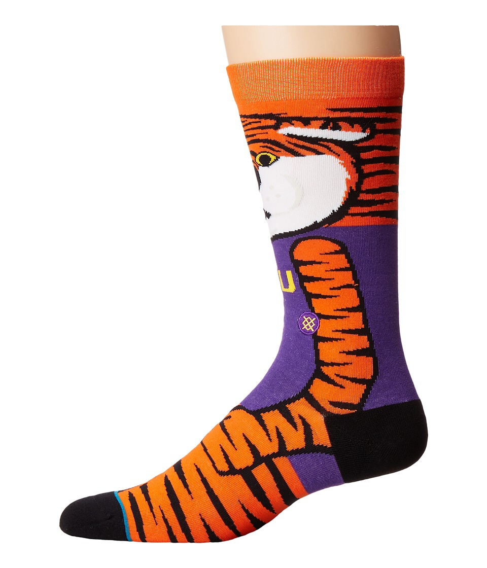 Stance - Mike The Tiger (Gold) Men's Crew Cut Socks Shoes