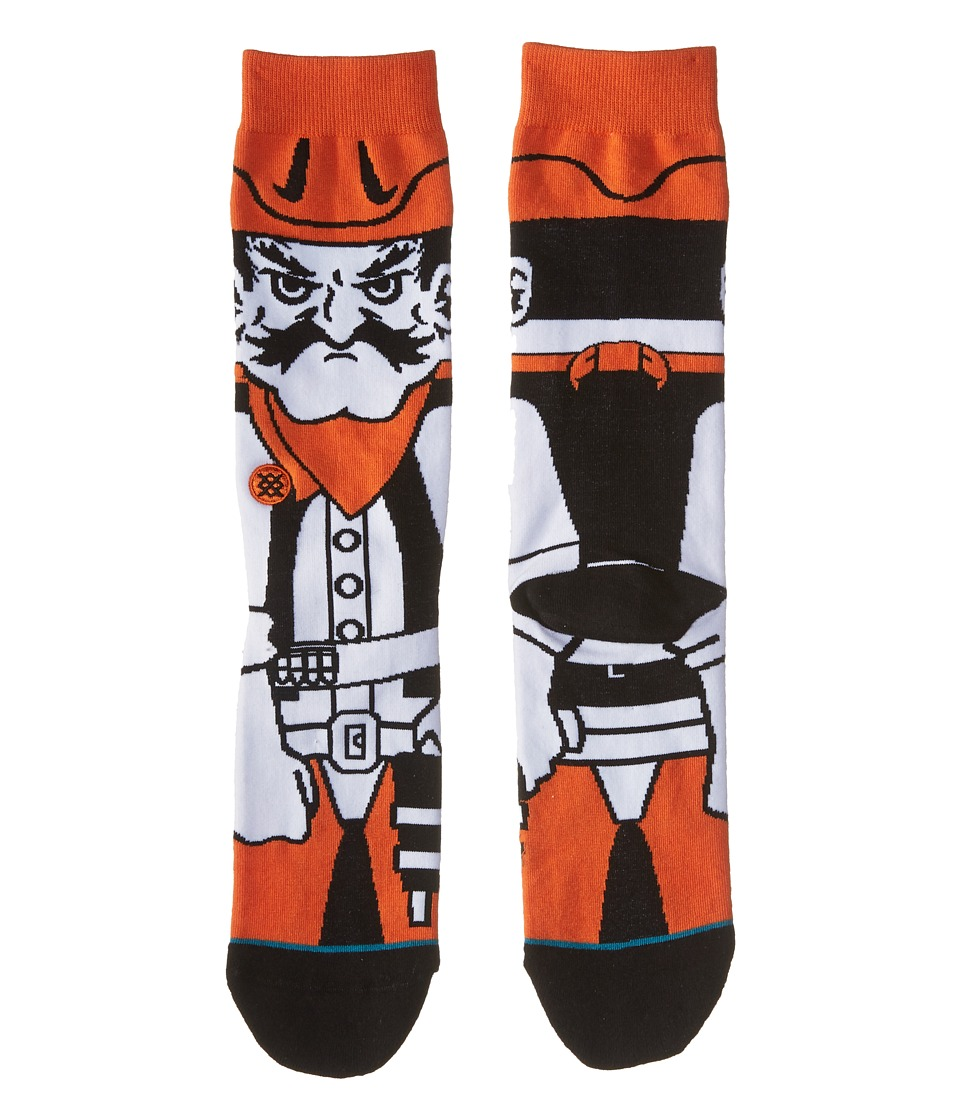 Stance - Pistol Pete (Orange) Men's Crew Cut Socks Shoes