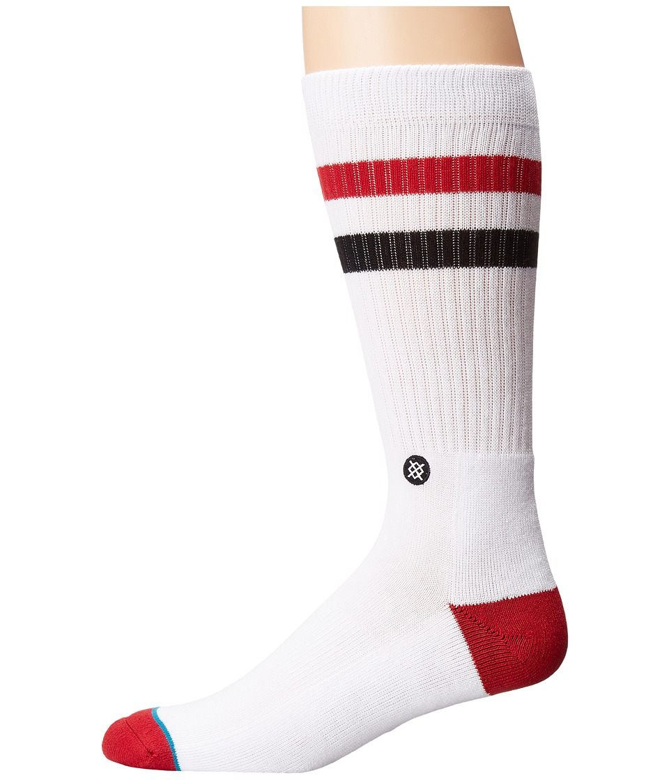 Stance - Stanford (White) Men's Crew Cut Socks Shoes