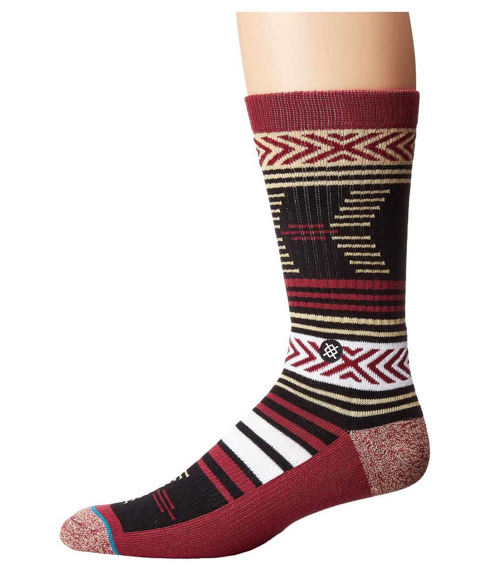 Stance - Mazed Florida St. (Black) Men's Crew Cut Socks Shoes