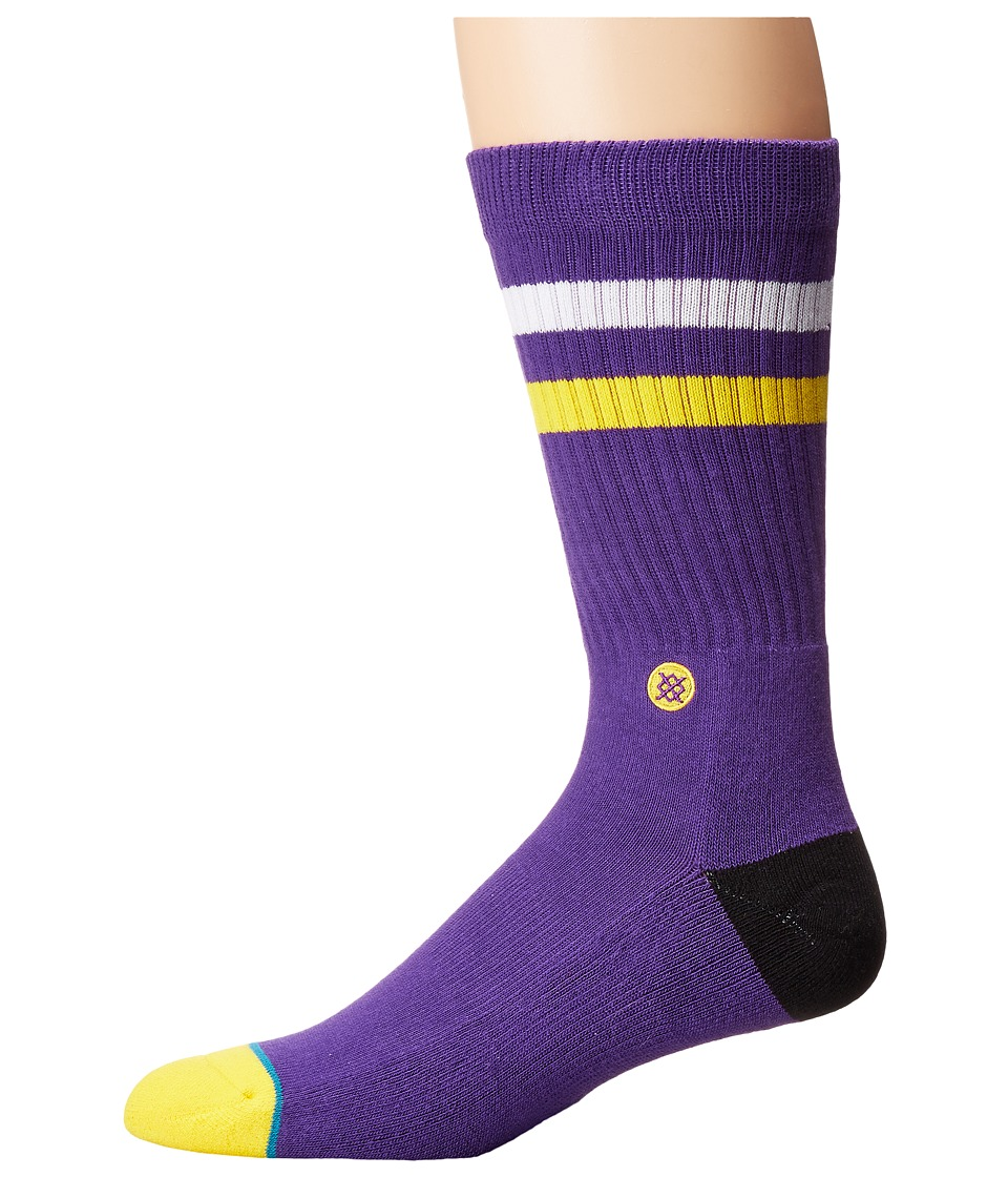 Stance - LSU (Purple) Men's Crew Cut Socks Shoes