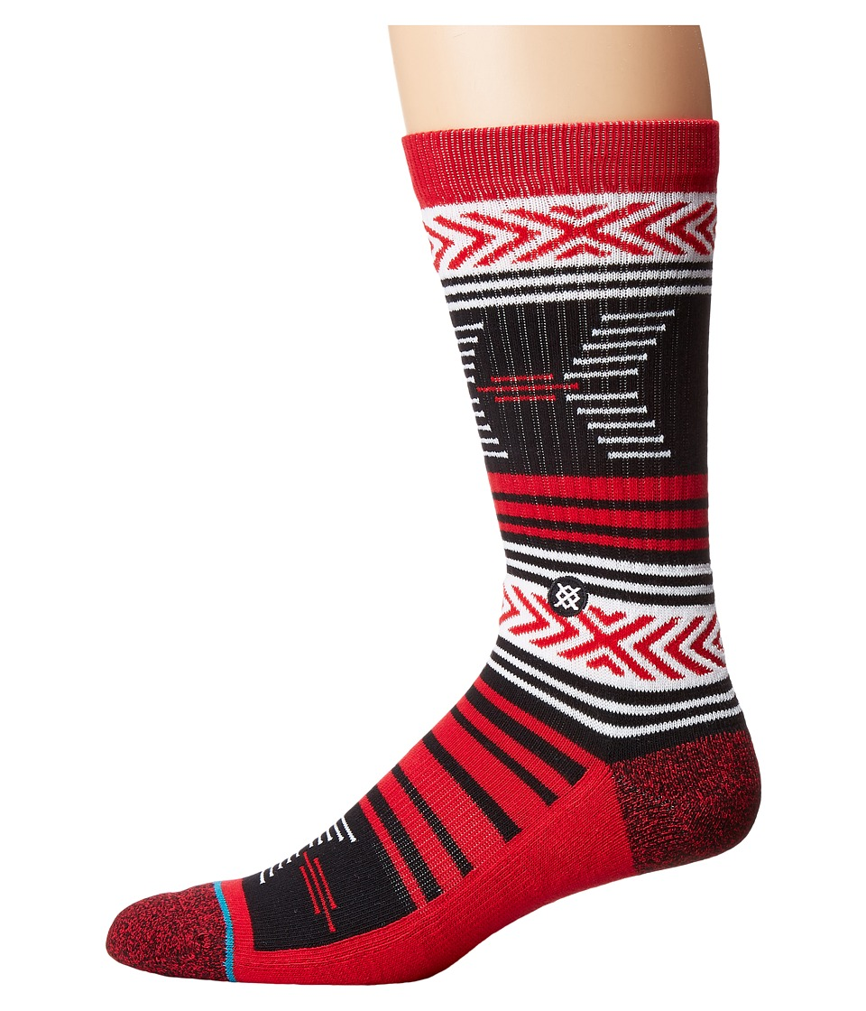 Stance - Mazed Georgia (Red) Men's Crew Cut Socks Shoes