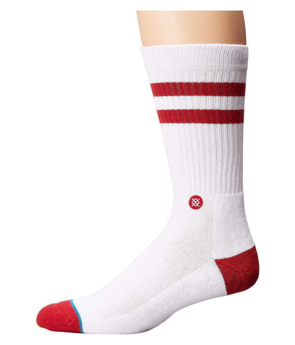 Stance - Sooners (White) Men's Crew Cut Socks Shoes