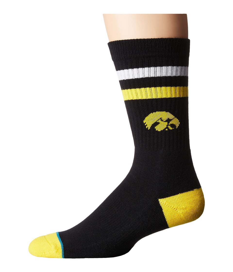 Stance - Hawkeyes (Black) Men's Crew Cut Socks Shoes