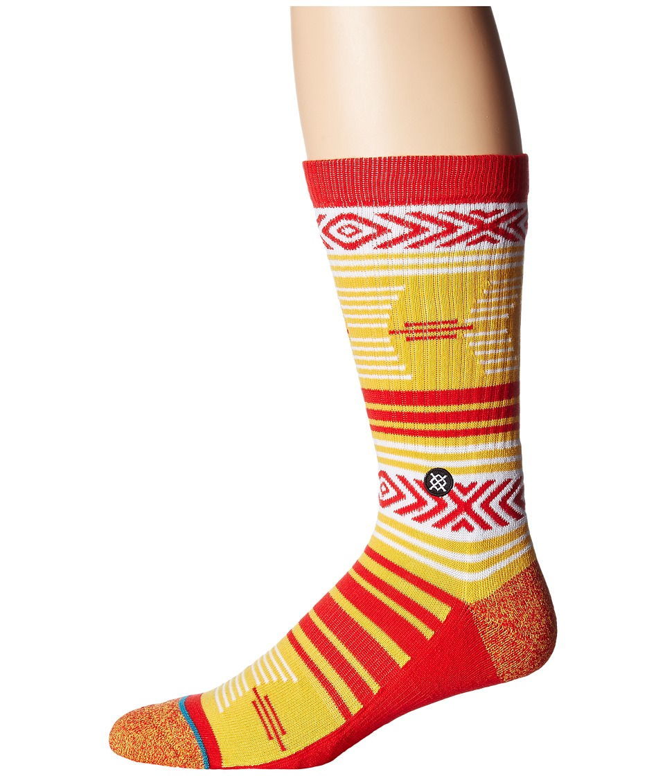 Stance - Mazed Iowa St. (Gold) Men's Crew Cut Socks Shoes