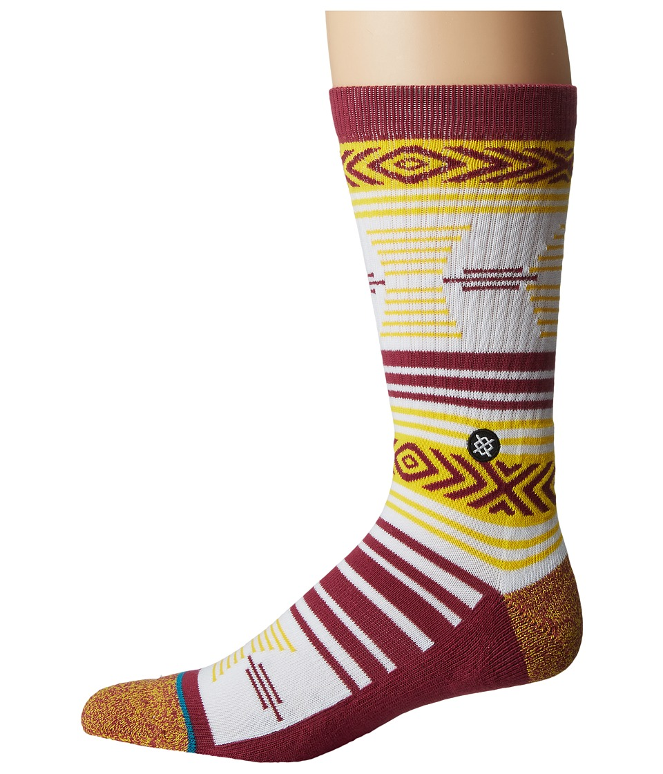 Stance - Mazed AZ St. (Maroon) Men's Crew Cut Socks Shoes