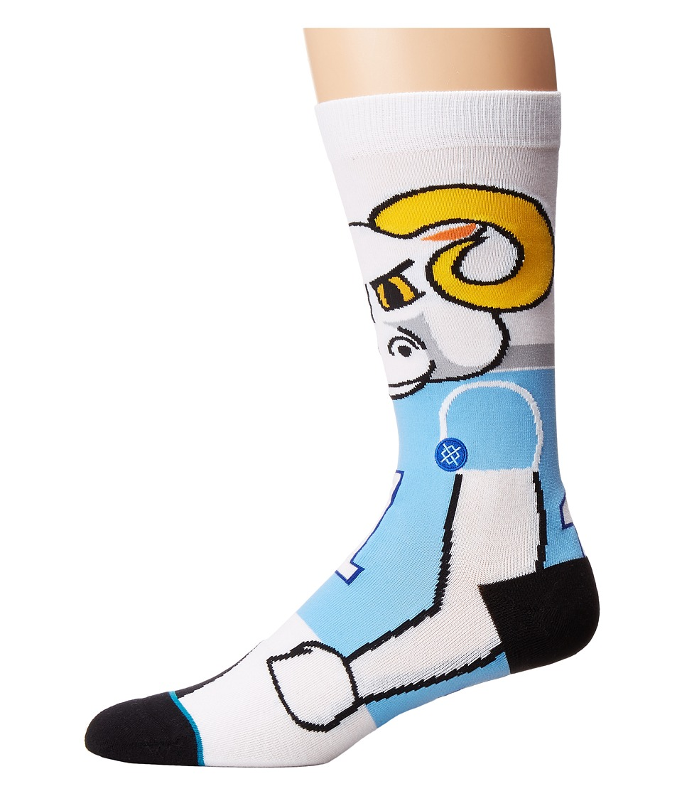 Stance - Heels (Blue) Men's Crew Cut Socks Shoes