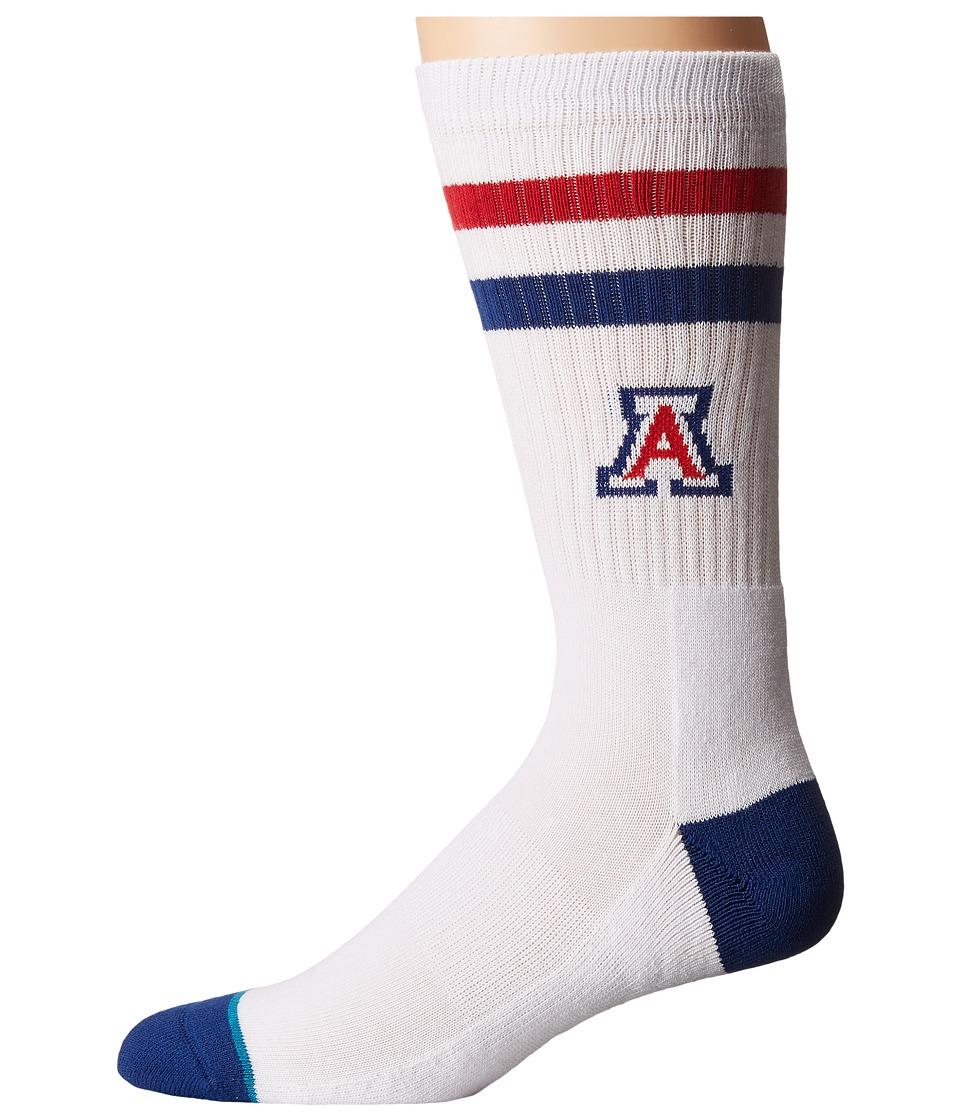 Stance - Arizona (White) Men's Crew Cut Socks Shoes