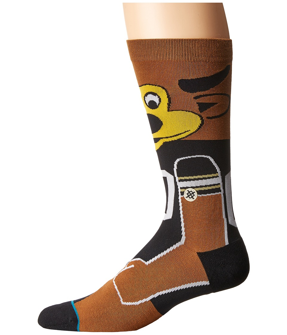 Stance - Chip (Black) Men's Crew Cut Socks Shoes