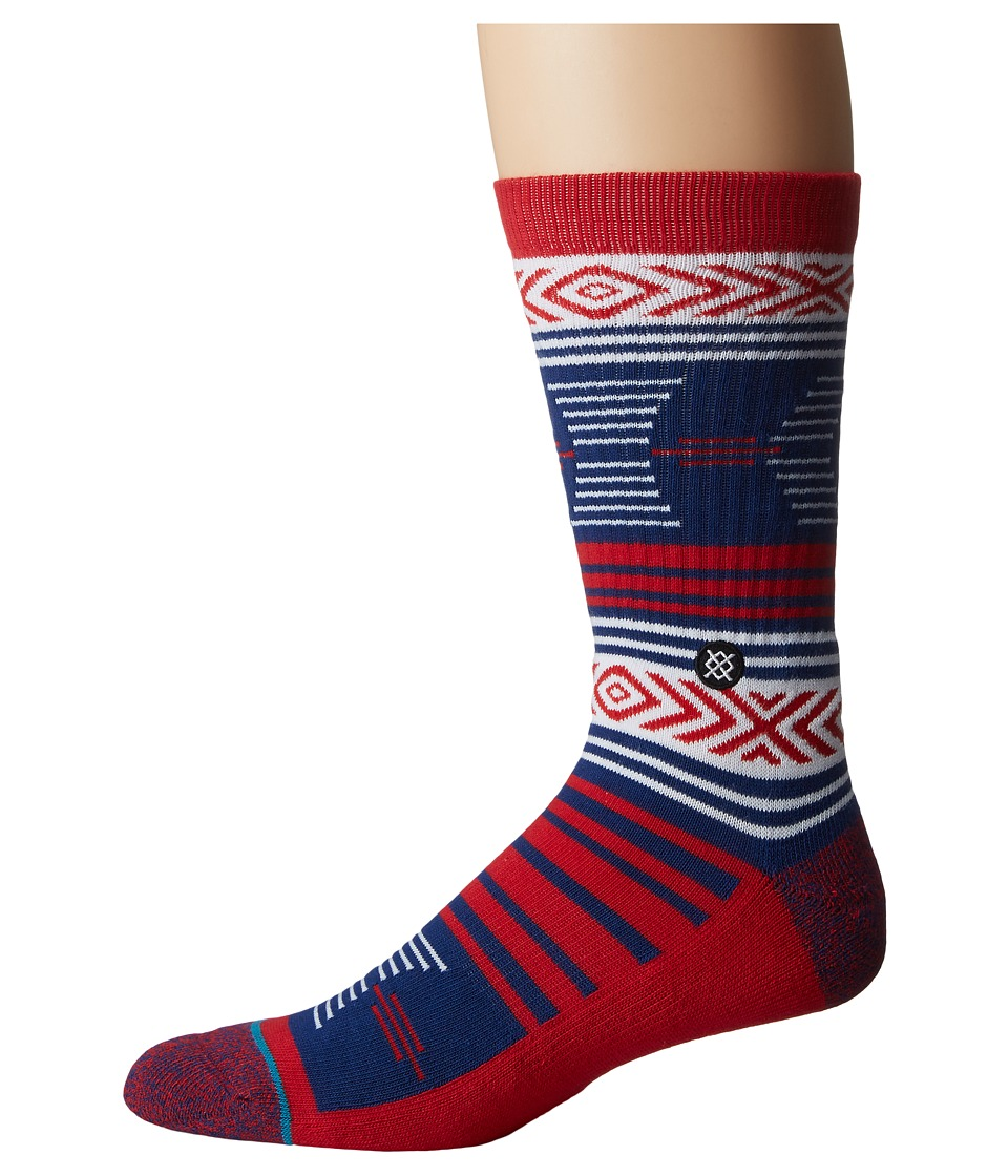 Stance - Mazed Arizona (Red) Men's Crew Cut Socks Shoes