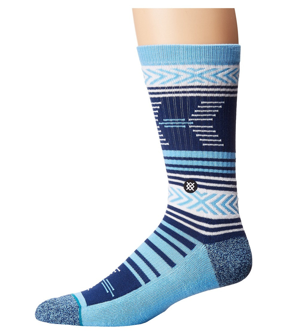 Stance - Mazed North Carolina (Blue) Men's Crew Cut Socks Shoes