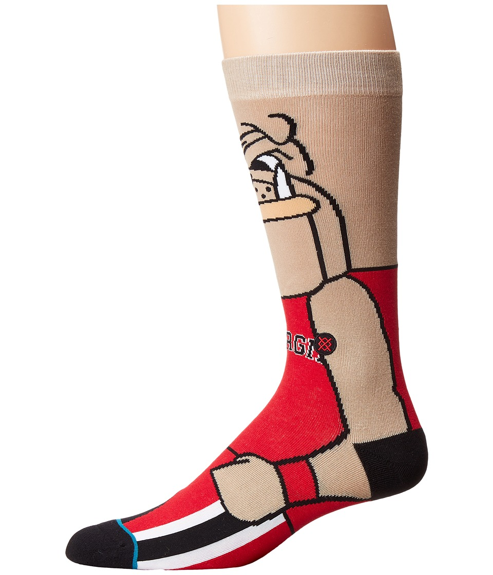 Stance - UGA (Red) Men's Crew Cut Socks Shoes
