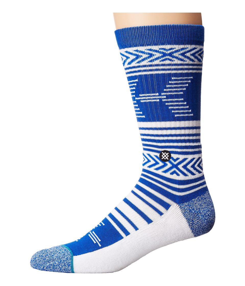 Stance - Mazed Wildcats (Blue) Men's Crew Cut Socks Shoes