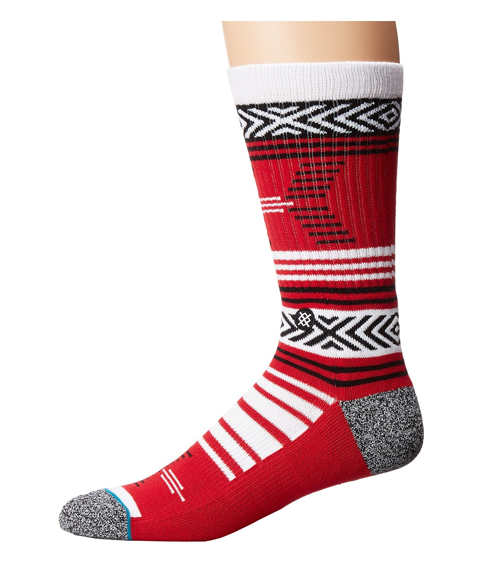 Stance - Mazed Utah (Red) Men's Crew Cut Socks Shoes