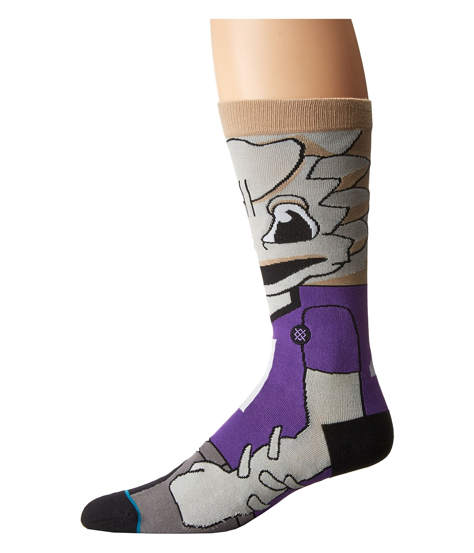 Stance - Super Frog (Purple) Men's Crew Cut Socks Shoes