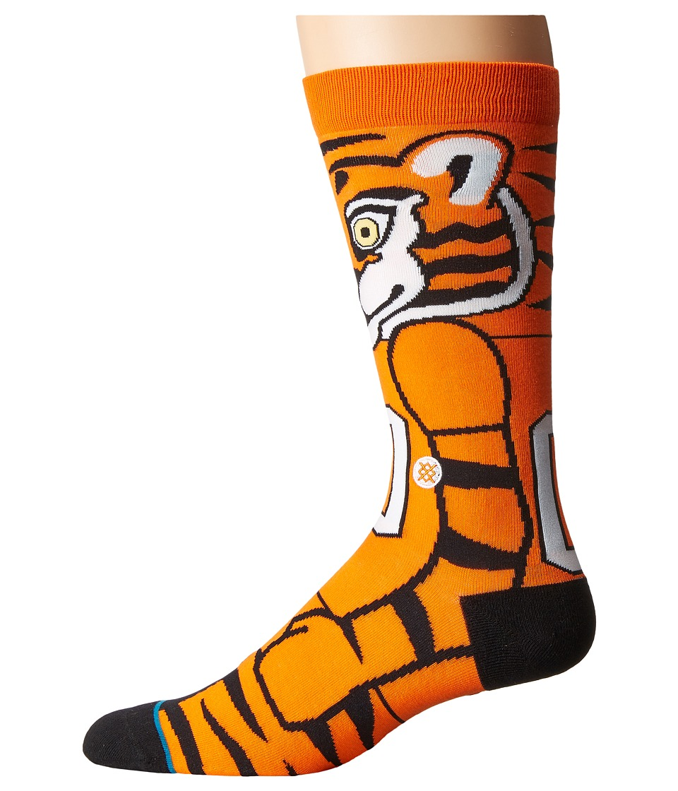 Stance - The Tiger (Orange) Men's Crew Cut Socks Shoes