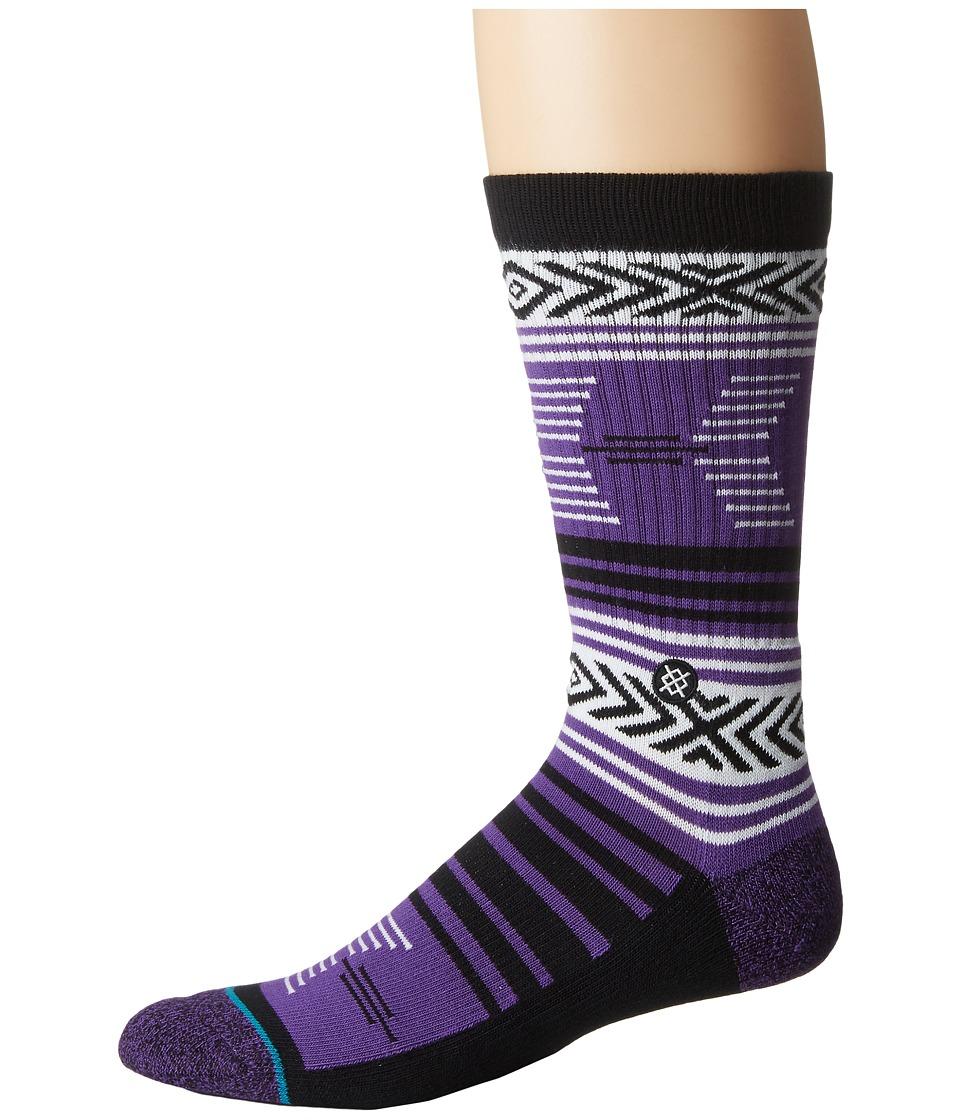 Stance - Mazed TCU (Purple) Men's Crew Cut Socks Shoes