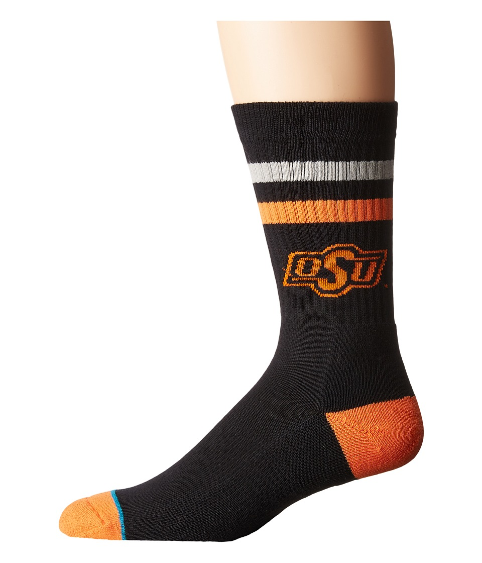 Stance - Oklahoma State (Black) Men's Crew Cut Socks Shoes