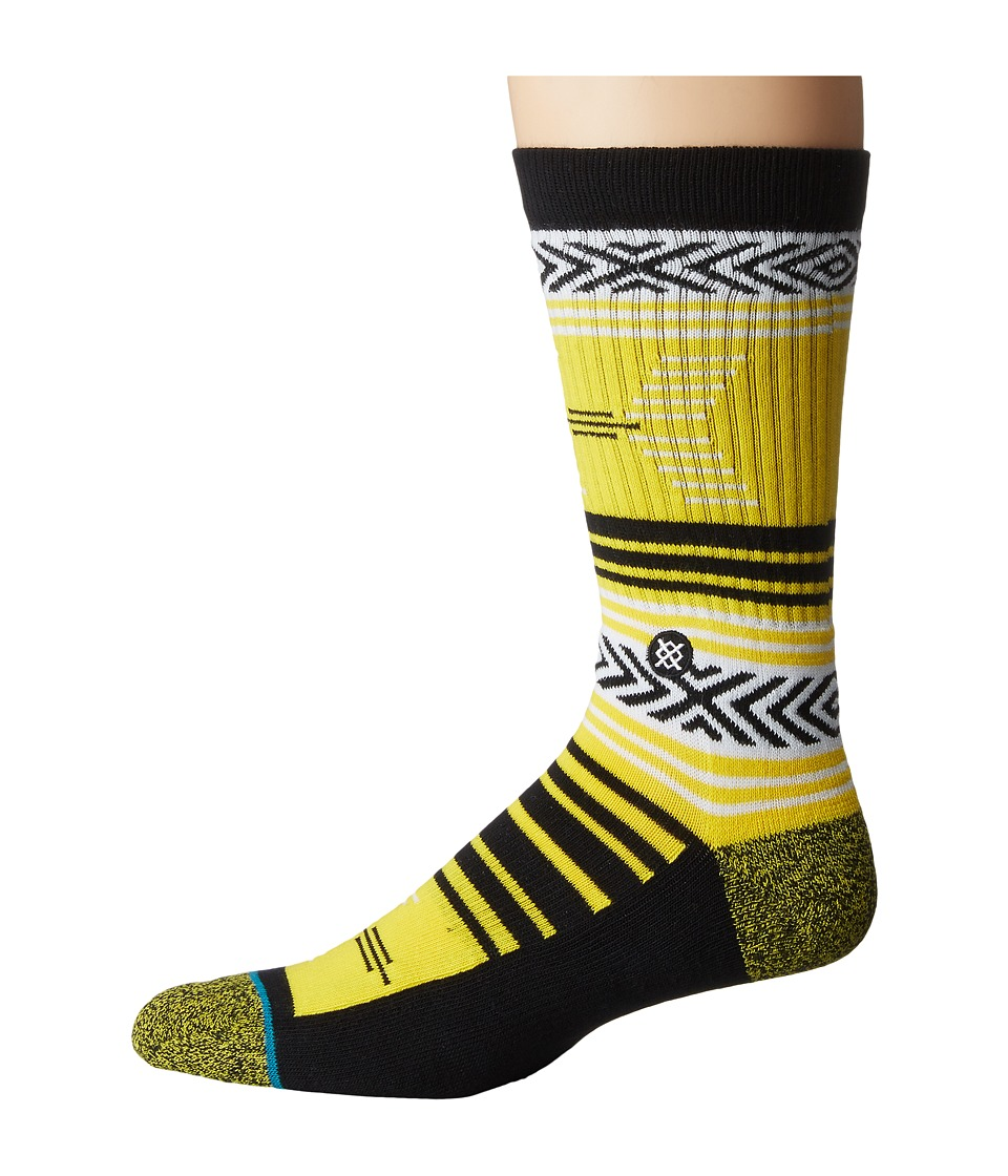 Stance - Mazed Iowa (Yellow) Men's Crew Cut Socks Shoes