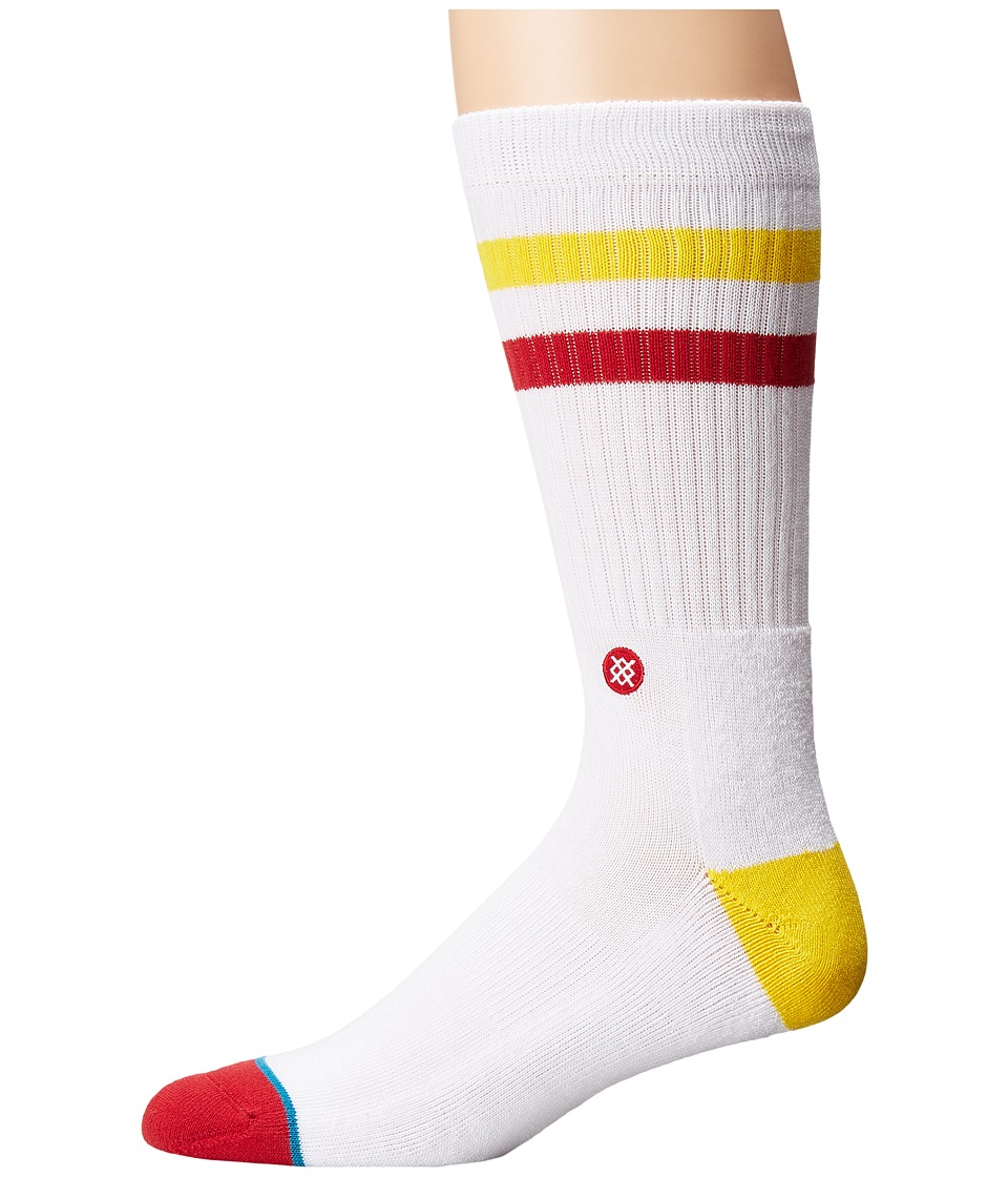 Stance - Fight On (White) Men's Crew Cut Socks Shoes