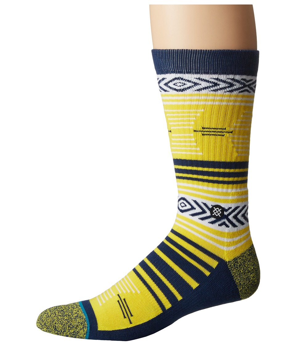 Stance - Mazed Wolverines (Maize) Men's Crew Cut Socks Shoes
