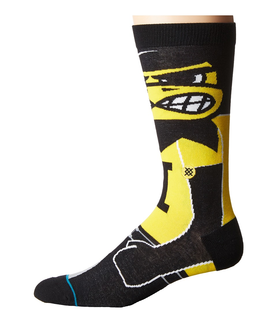 Stance - Herky (Black) Men's Crew Cut Socks Shoes