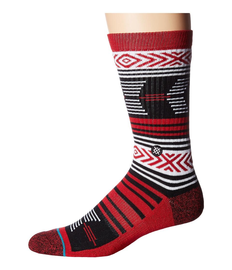 Stance - Mazed Cardinals (Cardinal) Men's Crew Cut Socks Shoes
