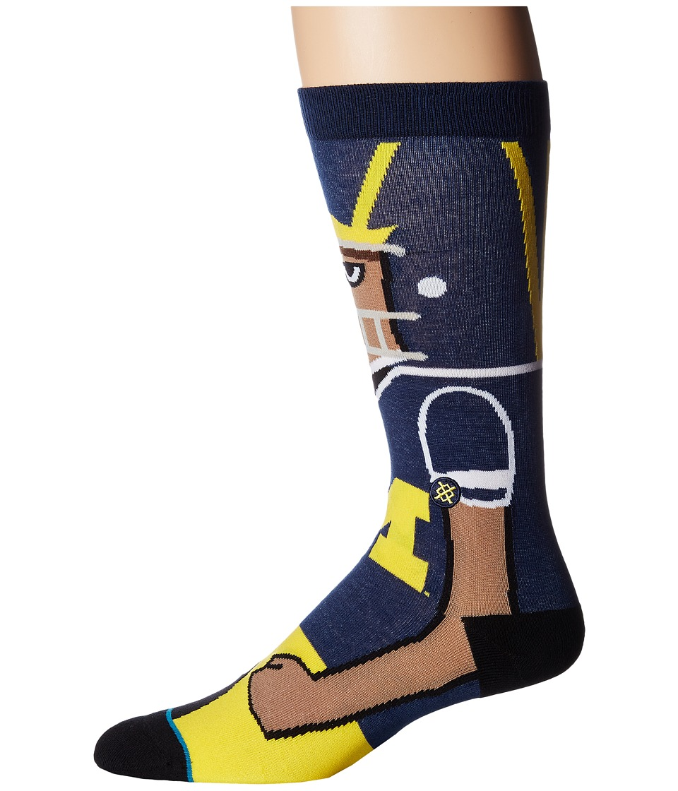 Stance - U of M (Maize) Men's Crew Cut Socks Shoes